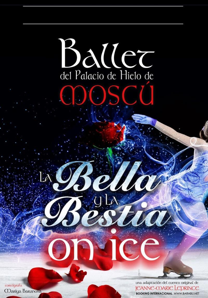 LA BELLA Y  LA BESTIA on ice. Ballet del palacio de Hielo de Moscú.